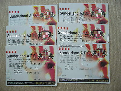 SUNDERLAND v BIRMINGHAM CITY 1998 MATCH TICKET FIRST SEASON AT SOL