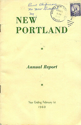 1960 ANNUAL REPORT of the Town of New Portland, Maine