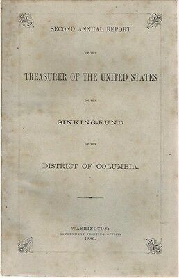 1880 Treasurer Of United States Report On The District Of Columbia Sinking Fund