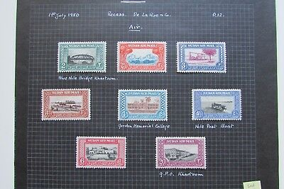 XL3135: Sudan Complete Mint 'Airmail' Stamp Set to 20 Pt (1950).