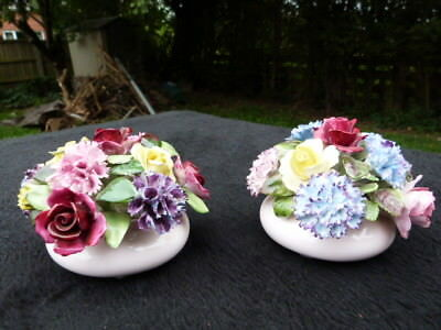 "Lovely Pair Of Vintage ""royal Adderley"" Floral Bone China Posy Bowls."