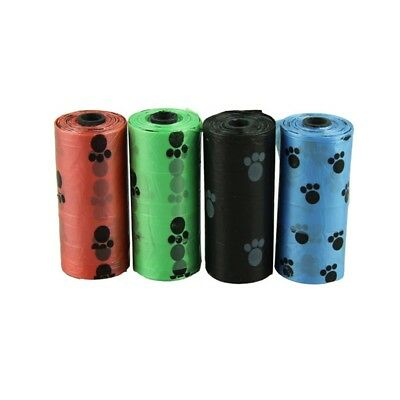 4Roll Degradable Pet Dog Waste Poop Garbage Clean Bag With Printing Doggy Bag