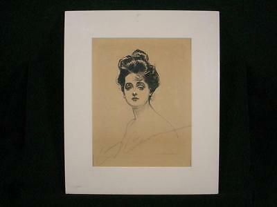 NobleSpirit {3970} Lovely Charles D. Gibson Autograph on Gibson Girl Print