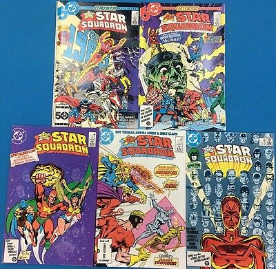 ALL-STAR SQUADRON lot (5) #55 #56 #57 #58 #59 (1986) DC Comics FINE