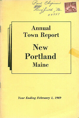 1969 ANNUAL REPORT of the Town of New Portland, Maine