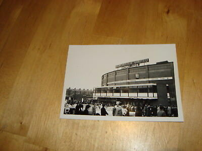 Manchester United photograph, outside Old Trafford, early 1960's