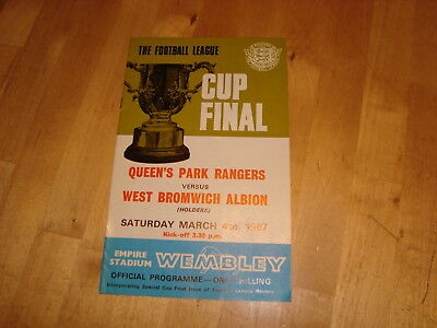 QPR v West Bromwich Albion 1967 League Cup Final
