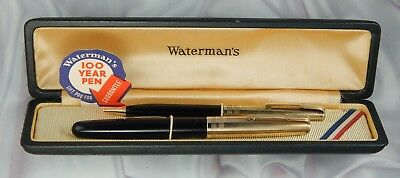 Waterman Hundred Year Fountain Pen And Pencil With Gold Filled Caps