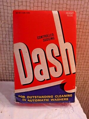 VINTAGE NOS DASH Laundry Detergent Bow with Contents MUST SEE New Old Stock