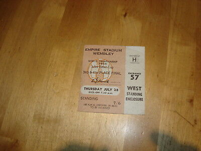 World Cup 1966 ticket: 3rd/4th place,Portugal v Soviet Union