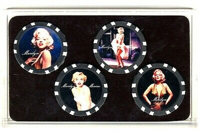 Marilyn Monroe Limited Edition Collector Poker Chip Set Gift 4 Different Chips *