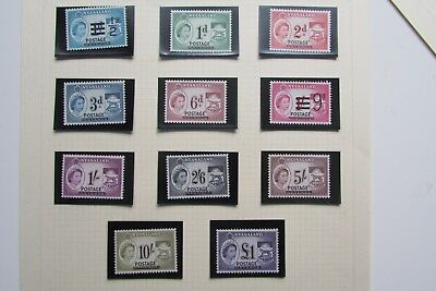 XL2979A: Nyasaland QEII Complete Set Mint Stamps to £1 (1963).