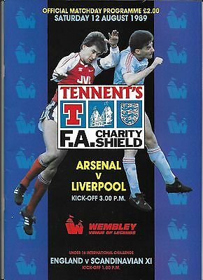 1989 FA CHARITY SHIELD PROGRAMME>ARSENAL v LIVERPOOL