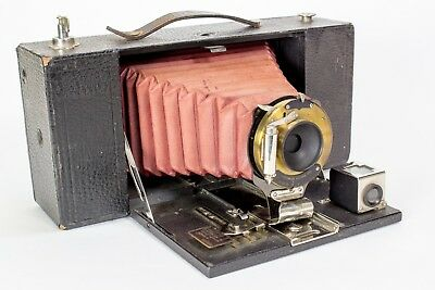 Kodak No. 3-A Folding Brownie Camera Model A Red Bellows 1909-1913 - AS IS