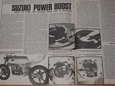 Rare SUZUKI GT250 FAST ROAD/RACE ENGINE TUNING STEP BY STEP GUIDE T250