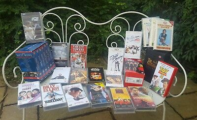 Job Lot VHS Videos Classic Titles inc Godfather Sex & City West Wing Box Sets