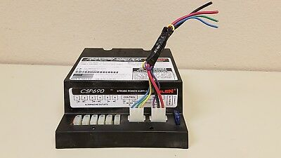 Whelen CSP690 Strobe Power Supply 90 Watt with input & control cable connectors