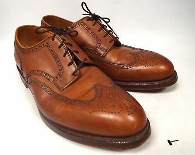CROCKETT and JONES Cardiff Brown Leather Brogue Detail Shoes UK 11 E - E13