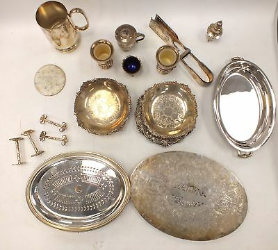Collection 18 x SILVER PLATED Kitchen/Dining UTENSILS Incl. Napkin Rings - U02