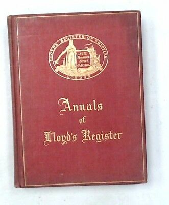 Vintage ANNALS OF LLOYD'S REGISTER Illustrated Book Centenary Edition 1934 - N29