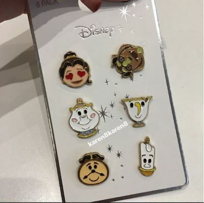 DISNEY BEAUTY AND THE BEAST Emoji PINS CHIP MRS POTTS LUMIERE COGSWORTH Primark