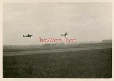 WWII photo- P-47 Thunderbolt Fighter planes TAKEOFF From RUNWAY for MISSION -3
