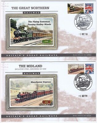 BRITAIN'S GREAT RAILWAYS *THE FLYING SCOTSMAN* & *MANCHESTER EXPRESS* covers