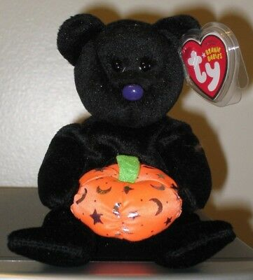 Ty Beanie Baby ~ HAUNTING the Halloween Bear ~ MINT with MINT TAGS ~ RETIRED