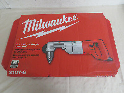 "MILWAUKEE 3107-6 7 Amp 1/2"" Corded Heavy Right-Angle Drill - Free Shipping"