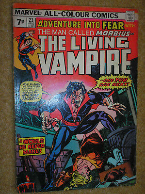 Fear # 23 Morbius Vampire Kane Russell Variant 1974 Bronze Age Marvel Comic Book
