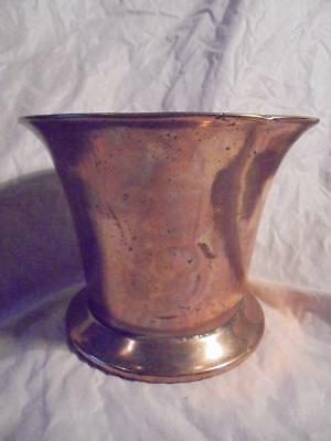 ORIGINAL 16th-17th CENTURY BRONZE MORTAR WITH ROSE & CROWN EMBOSSED SIDES, WORN