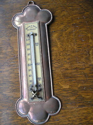 Copper Arts And Crafts Wilson And Sharp Thermometer Edinburgh