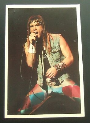 Postcard : Iron Maiden Lead Singer Bruce Dickinson : Photo by Pete Still