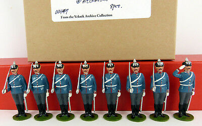 BOB YEKNIK 54mm WHITE METAL BAVARIAN GRENADIERS AT ATTENTION 8 PIECE BOXED SET