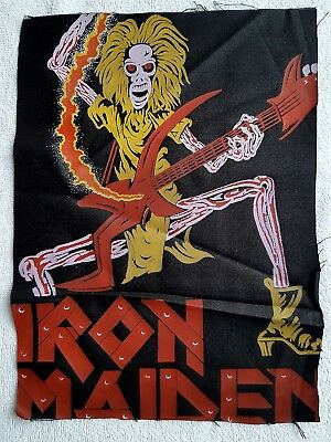 Iron Maiden Vintage Printed Textile/cloth Patch Nwobhm Heavy Metal Rock