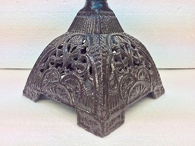Really Nice Victorian Refurbished Ornate Cast Iron Oil Lamp Base