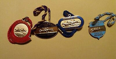 4 X Annual Members' Badges ~ Newmarket Racecourse~ 2002, 2003, 2004, 2005
