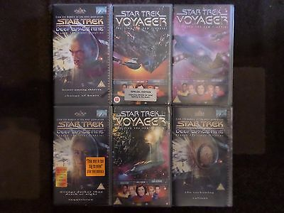 6x Star Trek VHS Video Tapes Voyager 6.8/6.9/6.10 & Deep Space Nice 6.8/6.9/6.11