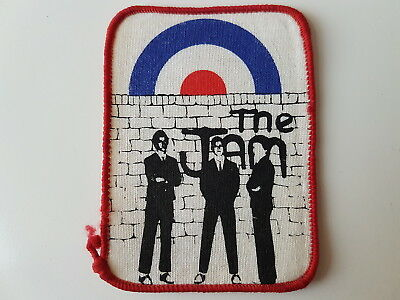 The Jam Vintage Printed Patch Paul Weller Mod Mods Punk Rock New Wave Scooter