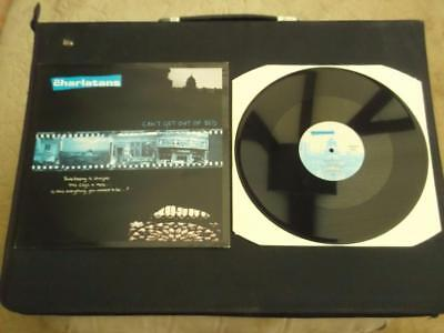 "The Charlatans Can't Get Out Of Bed 1994 Uk Press 3 Track 12"" Vinyl Record Ex/ex"