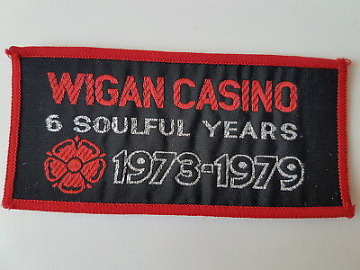Wigan Casino Vintage Woven Patch Northern Soul Ska Scooter 1973-1979 Red Border
