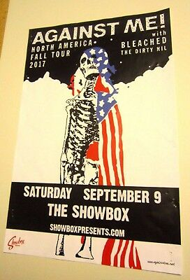Against Me! Bleached The Dirty Nil Fall Tour 2017 Original Concert Show Poster