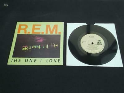 "R.e.m. The One I Love 1988 Uk Press 7"" Vinyl Record Single Ex/ex"