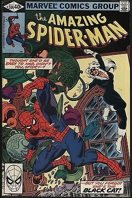 Amazing Spider-Man #204 Black Cat! Vfn+ 8.5 With White Pages!
