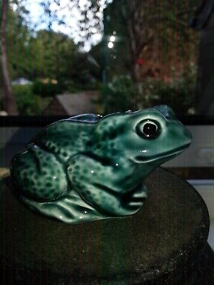 Vintage Poole Pottery Blue Frog Figure In Vgc