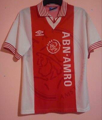 Afc Ajax Amsterdam Football Club 1995 Home Shirt Size S Abn Amro Good Condition