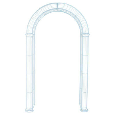 Charles Bentley Wrought Iron Pastel Garden Arch Outdoor Archway - Blue