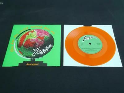 "X-Ray Spex The Day The World Turned Day-Glo 1978 Uk 7"" Orange Vinyl Record"