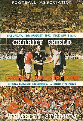 Liverpool v Manchester United - Charity Shield - 1977