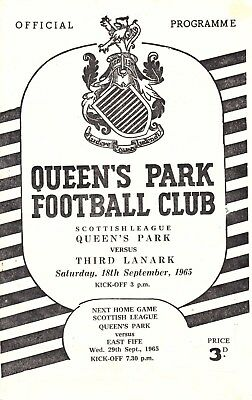 QUEEN'S PARK v Third Lanark, 18th September 1965, Scottish League Division Two